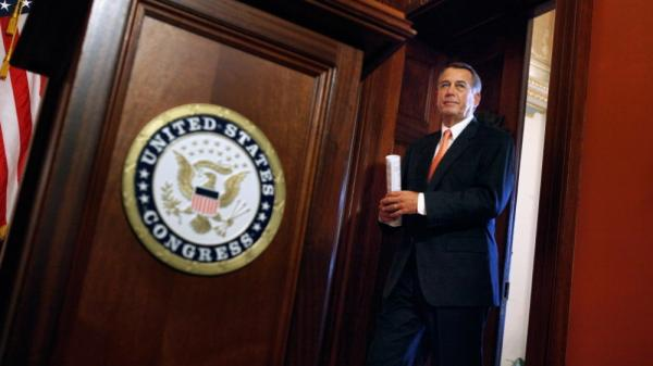 House John Boehner (R-Ohio) at the U.S. Capitol on Monday (Dec. 19, 2011).