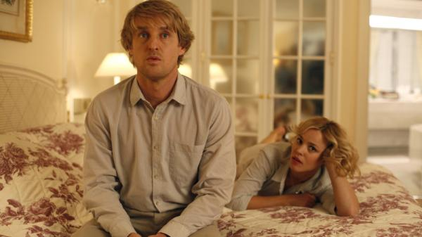 <strong>'Midnight In Paris':</strong> Owen Wilson, playing the time-traveling hero Gil, wants to write novels instead of movies, much to the horror of his fiancee Inez, played by Rachel McAdams.