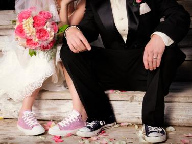 """Weddings don't have to be extravagantly expensive to be filled with joy and fun. """"Allocating your money to the places that you care the most about can be really helpful,"""" says author Meg Keene."""