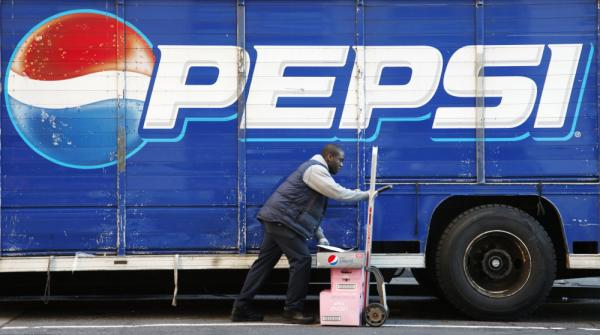 Kandral McKenzie delivers Pepsi products in New York on Thursday.