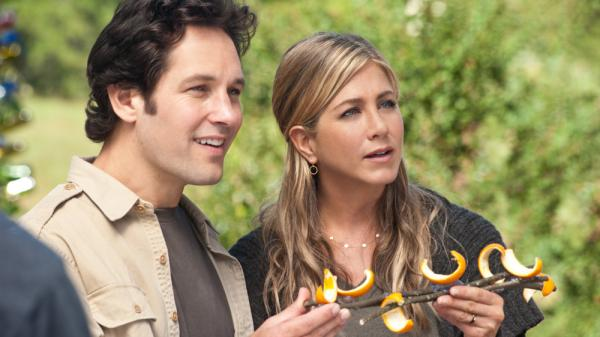 <strong>Orange You Glad We Wound Up Here? </strong>George (Paul Rudd) and Linda (Jennifer Aniston) play an unemployed Manhattan couple who stumble into a hippie farming commune whose denizens include characters played by Justin Theroux and Alan Alda.