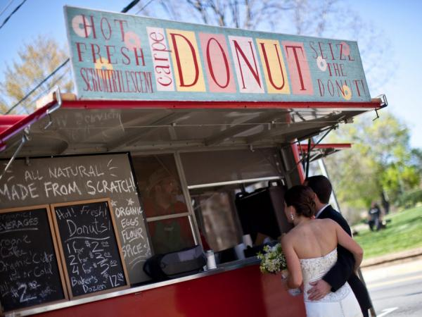 Many food trucks, like Carpe Donut, are finding new business catering weddings.