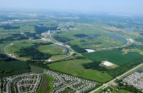 Fermilab and the Tevatron sit in the Illinois countryside near Chicago.