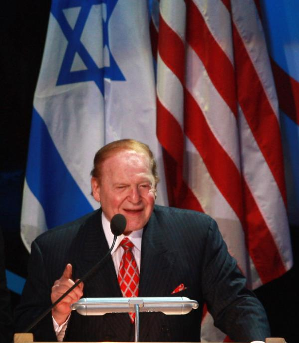 "Sheldon Adelson speaks at the 2008 ""Facing Tomorrow"" Presidential Conference in Jerusalem."