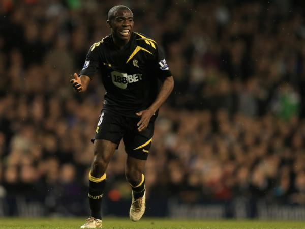 Fabrice Muamba of the Bolton Wanderers during last Saturday's game against Tottenham Hotspur in London, before his collapse.