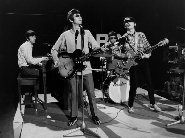Ian McLagan, Ronnie Lane, Kenny Jones and Steve Marriott of The Small Faces perform live on <em>Ready Steady Go!</em> in 1966.