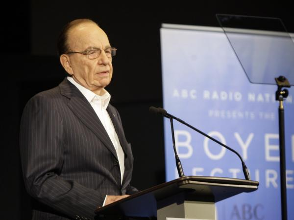 News Corp. Chairman and CEO Rupert Murdoch delivers the Boyer Lectures in Sydney, Australia, on Nov. 2, 2008.