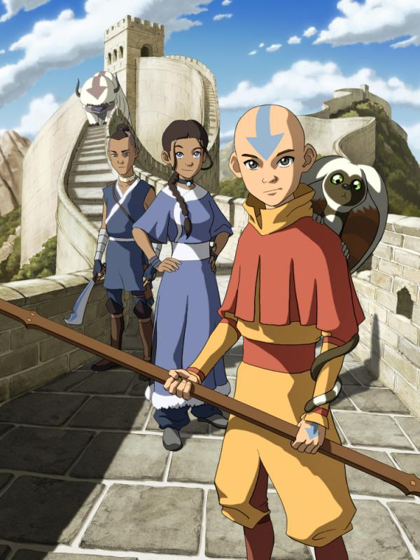 Sokka (from left), Katara and Aang from <em>Avatar: The Last Airbender</em>. Creators Bryan Konietzko and Michael DiMartino have set <em>Korra </em>70 years after the original series.