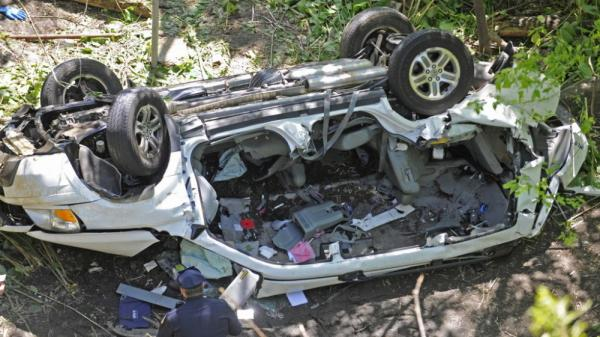 This van plunged off the Bronx River Parkway on Sunday. All seven people inside were killed.