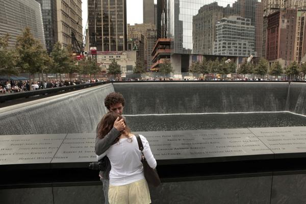 Daniel Jones, who lost his brother, Christopher Carstenjen, in the Sept. 11 attacks, stands at the 9/11 Memorial in New York City.