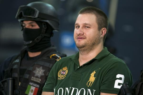 "<b>Captured Aug. 30, 2010:</b> American-born Edgar Valdez Villarreal, aka ""La Barbie,"" an alleged leader of the Beltran Leyva drug cartel, is seen a day after he was taken down during a raid in central Mexico. He faces charges of drug trafficking in both Mexico and the U.S. His extradition to the U.S. is under way."