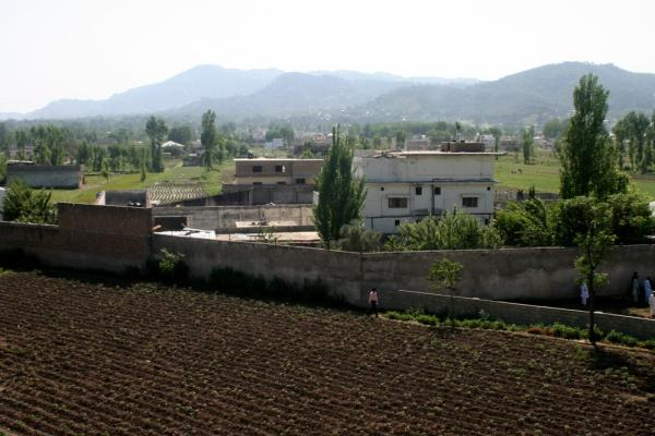 Osama bin Laden's compound is seen in Abbottabad, Pakistan, on Tuesday, after the U.S. military raid early Monday that ended with the death of the al-Qaida leader.