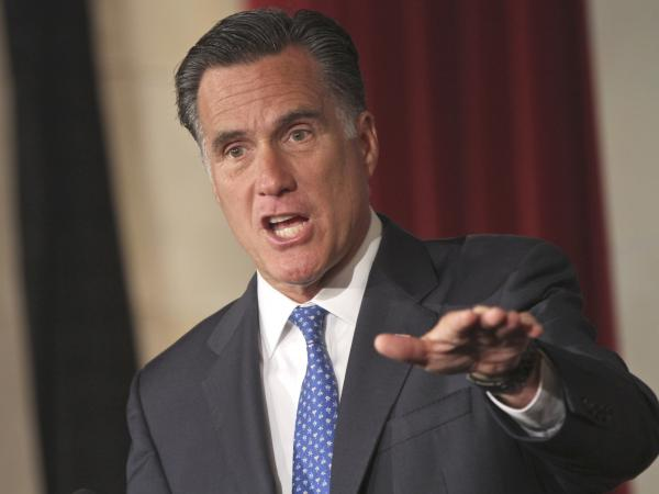 Mitt Romney addresses the Latino Coalition's 2012 Small Business Summit on Wednesday in Washington, D.C.