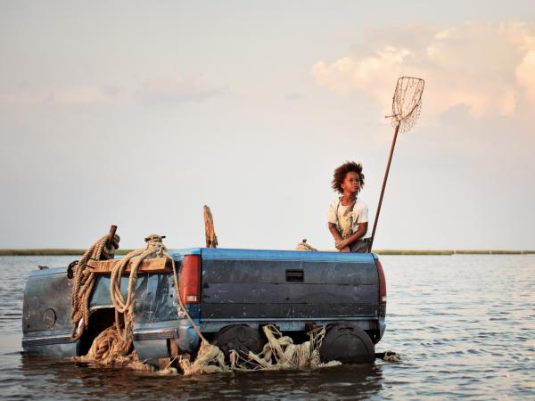 Quvenzhane Wallis as Hushpuppy in <em>Beasts of the Southern Wild</em>.
