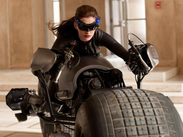 Anne Hathaway as Catwoman in <em>The Dark Knight Rises</em>.