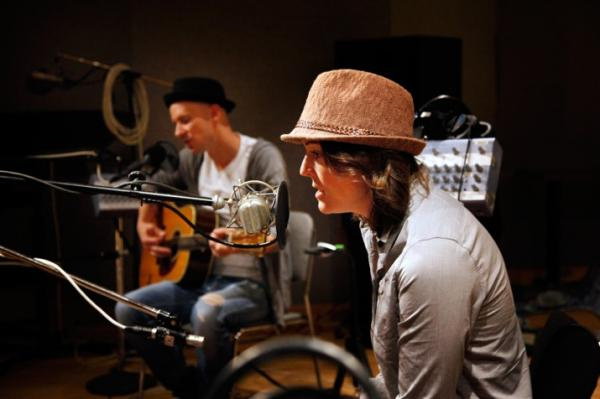 Brandi Carlile and Tim Hanseroth in NPR's Studio 4A.