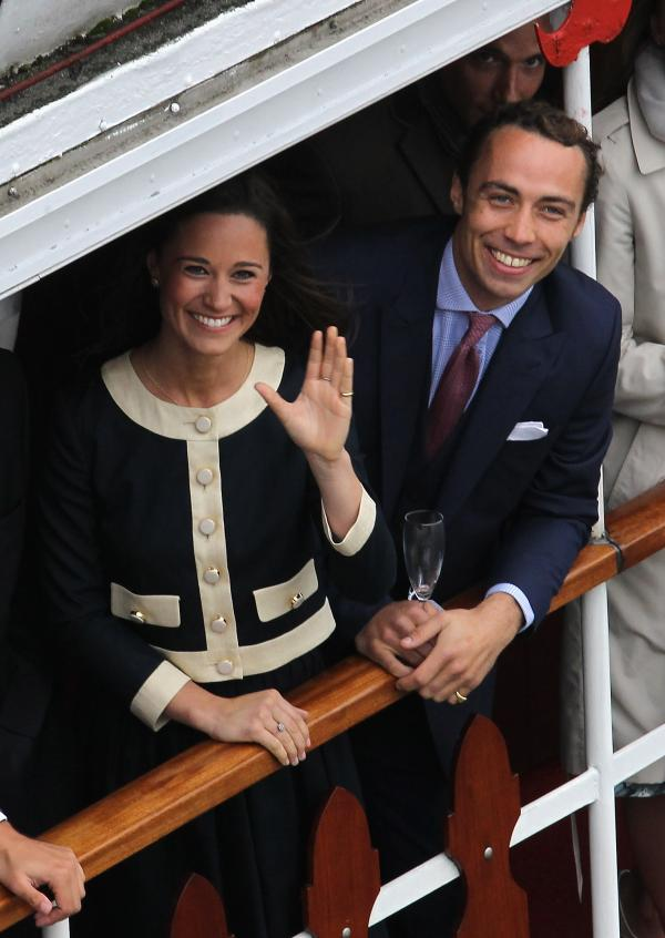 Catherine's siblings, Pippa and James Middleton, also rode with the Spirit of Chartwell during the pageant.