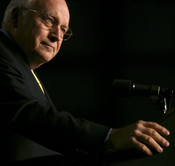 Vice President Dick Cheney speaks at a 2006 Republican rally in Idaho.