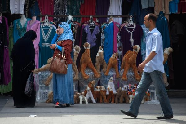 A scene from the medina in Tunis.