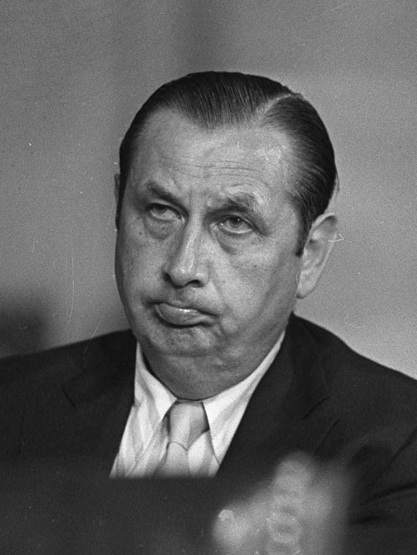Anthony Ulasewicz, shown here in 1973, acknowledged that he delivered more than $200,000 in hush money to the Watergate burglars.