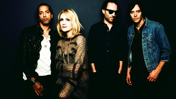 Metric's new album, its second on the band's own label, is titled <em>Synthetica</em>. Left to right: Joshua Winstead, Emily Haines, James Shaw, Joules Scott-Key.