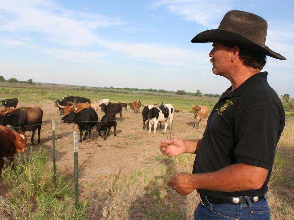 Dan Henrichs, a cattle rancher on the High Line Canal in Avondale, Colo., is also the local ditch superintendent.