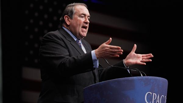 Former Arkansas Gov. Mike Huckabee delivers remarks to the Conservative Political Action Conference in February in Washington, D.C.