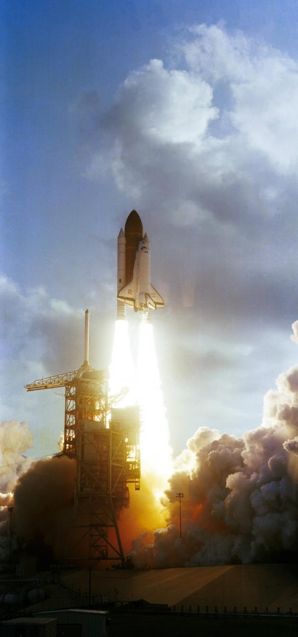"Ride and her crewmates rocketed into space aboard Challenger at 7:33 a.m. Eastern Time on June 18, 1983. Ride later described the launch as ""exhilarating, terrifying and overwhelming all at the same time."""