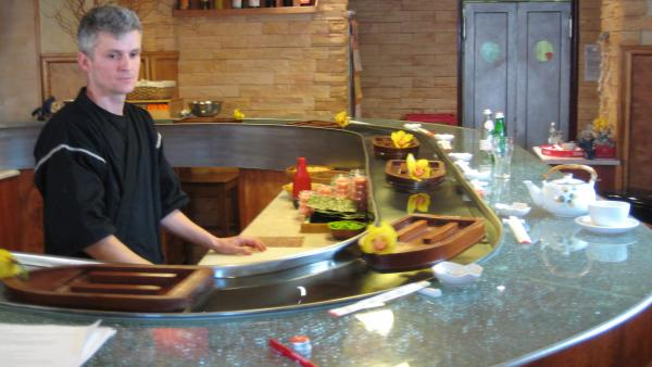 Polish sushi chef Marcin Korzeniewski in <em>Sushi: The Global Catch</em>, a documentary that looks at the environmental repercussions of sushi's increasing worldwide popularity.