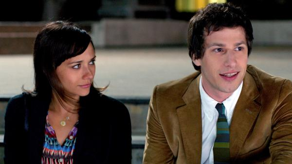 Celeste (Rashida Jones) and Jesse (Andy Samberg) are a separated couple who continue to hang out like best friends in <em>Celeste and Jesse Forever</em>. Jones also co-wrote the film.