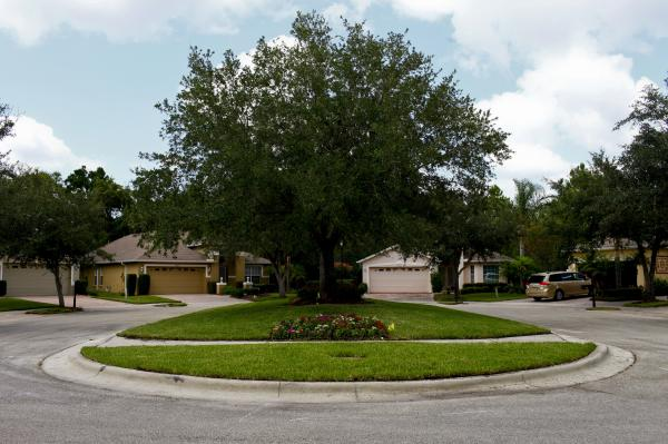 Kos has lived on this cul-de-sac in New Tampa, Fla., for eight years. Her husband is a chef, and the family moves often, so they have been particularly in tune with fluctuating home prices.