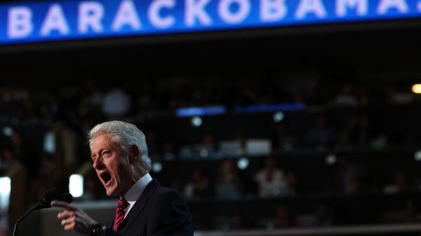 Former President Bill Clinton speaks Wednesday at the Democratic National Convention.