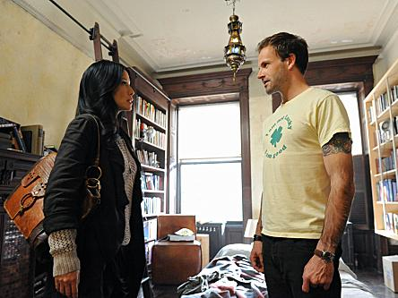 Jonny Lee Miller stars as the latest iteration of Sherlock Holmes, with Lucy Liu as his trusty Dr. Watson, on CBS's <em>Elementary</em>.
