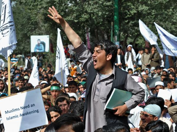 There were also anti-American protests in Kabul on Sunday.