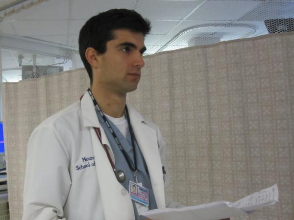 Mount Sinai Medical student Demetri Blanas wants to specialize in family medicine. It is a new specialty offered by his medical school.