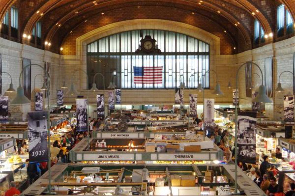 Today, the Cleveland West Side Market is a space for 100 vendors opportunities to sell and connect with the local community and tourists.