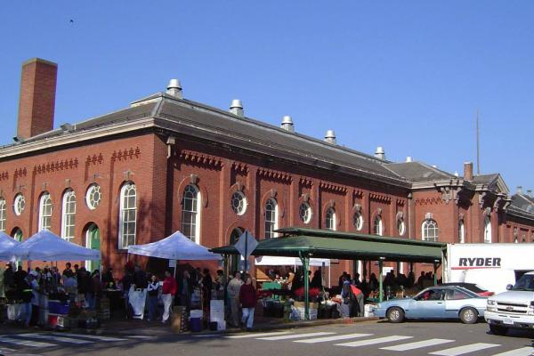 The Eastern Market in Washington, D.C. is 137 years old and attracts thousands of shoppers and vendors, rain or shine.