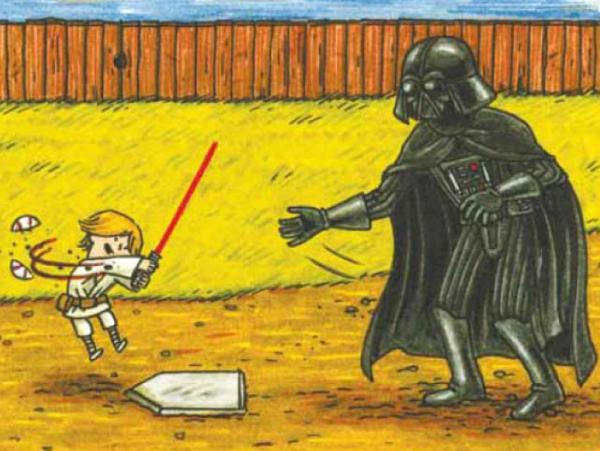 """I don't know why I didn't expect this, but kids really like the book, maybe even more than the adult audience,"" says Jeffrey Brown, author of <em>Darth Vader and Son</em>, a best-selling panel book about Vader's frustrations raising a 4-year-old Luke Skywalker. ""A lot of people have said their kids want it as their bedtime book just again and again and again."""