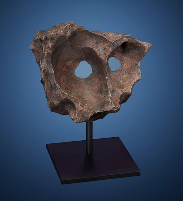 <strong>Meteor Masquerade:</strong> Another fragment of the Gibeon meteorite, which crashed into Namibia in prehistoric times. Namibian tribesmen discovered this specimen, known as the Gibeon Mask, in 1992. Estimated price: $140,000-$180,000.