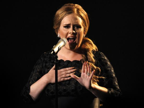 Adele singing <em>Someone Like You</em> at the 2011 MTV Video Music Awards in Los Angeles. That's one way to say goodbye.