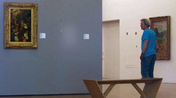 There's an empty space today where a Henri Matisse painting had been hanging at the Kunsthal museum in Rotterdam, Netherlands. Seven paintings were stolen Tuesday, including works by Pablo Picasso, Claude Monet and Paul Gauguin.