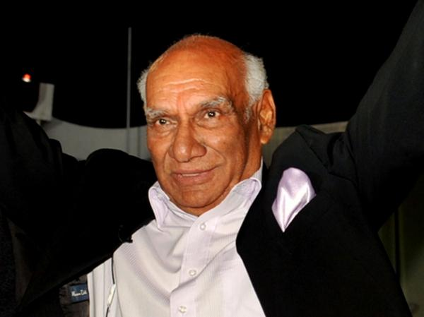 Yash Raj Chopra, shown celebrating his 80th birthday earlier this year in Mumbai, died Sunday.