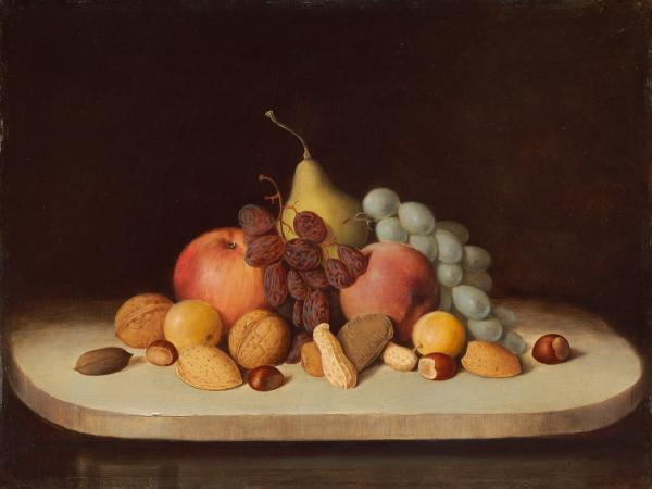 <em>Still Life with Fruit and Nuts,</em> by Robert Seldon Duncanson
