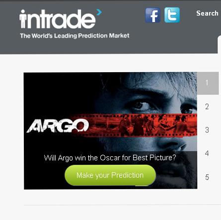 Ireland-based Intrade lets users bet money on all manner of predictions — like if a particular film will win an Oscar. The site is ceasing operations in the U.S.