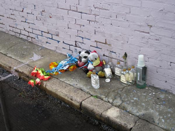Memorials to shooting victims can be seen throughout Camden on front porches, at the side of houses and on empty lots.