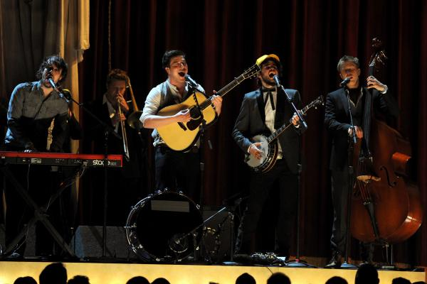 Mumford and Sons perform at the 53rd Grammy Awards in 2011.