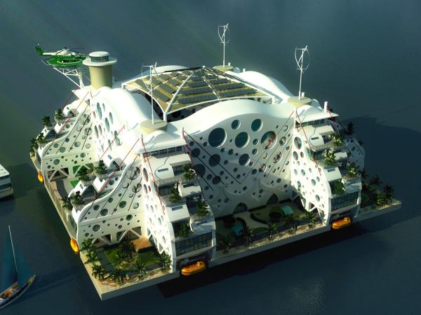 A winning entry in the Seasteading Design Contest by Emerson Stepp.