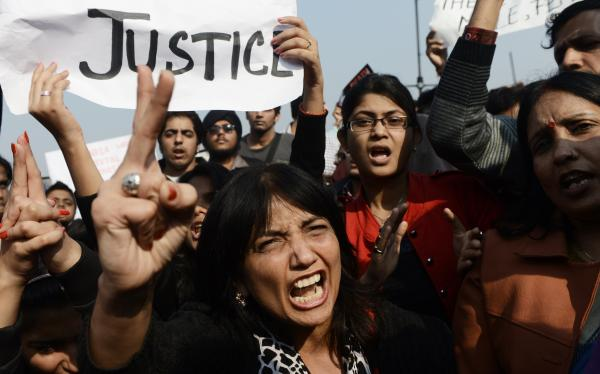 Protestors are storming central Delhi streets, calling for women's safety following a brutal attack on a young woman last weekend.