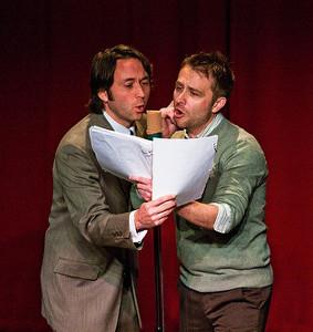 Mike Phirman and Chris Hardwick perform in <em>The Thrilling Adventure Hour</em>.