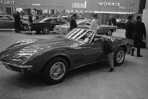 A new Corvette is shown on Sept. 14, 1967, in Frankfurt, Germany.